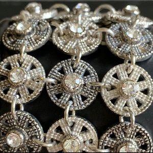 Premier Designs 3-Strand Silver/Crystal Bracelet